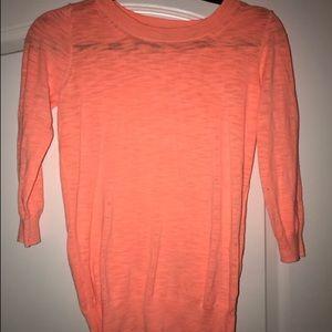 J crew neon coral sweater